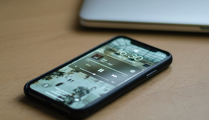 iPhoneロック画面通知
